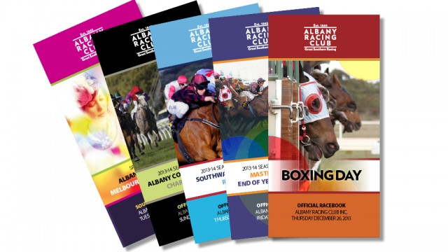 Five Race Book covers fanned out